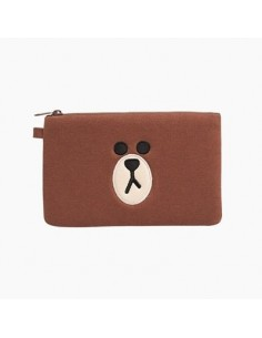 [LINE FRIENDS Official Goods] Brown Square Pouch