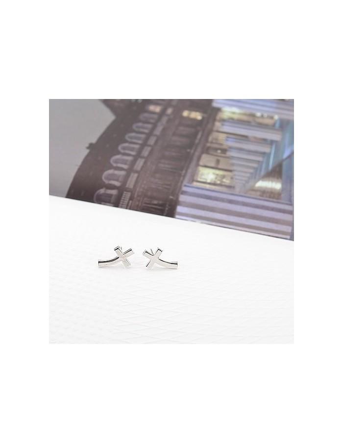 [SH103] Shinee Curve Cross Earring