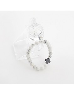 [BS18] BTS Style White Stone Bracelet