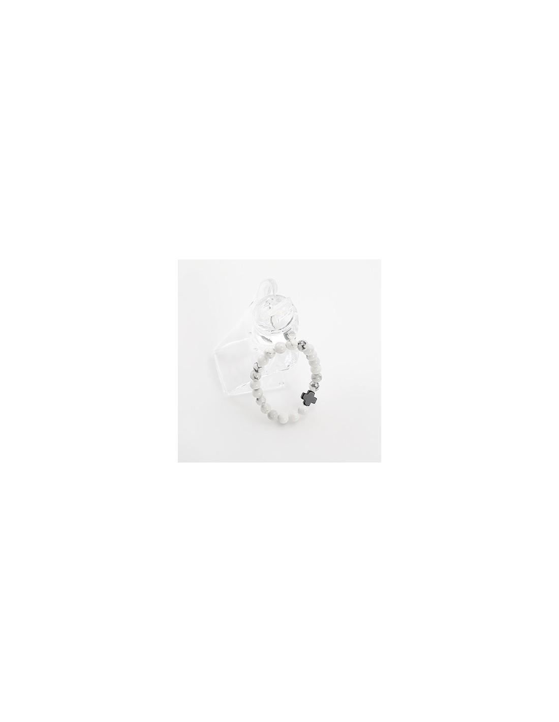 Bs18 Bts Style White Stone Bracelet