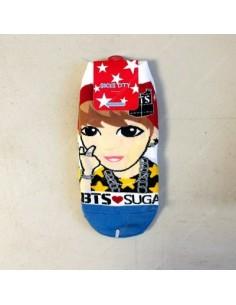 1 Pair of Character Socks - BTS SUGA