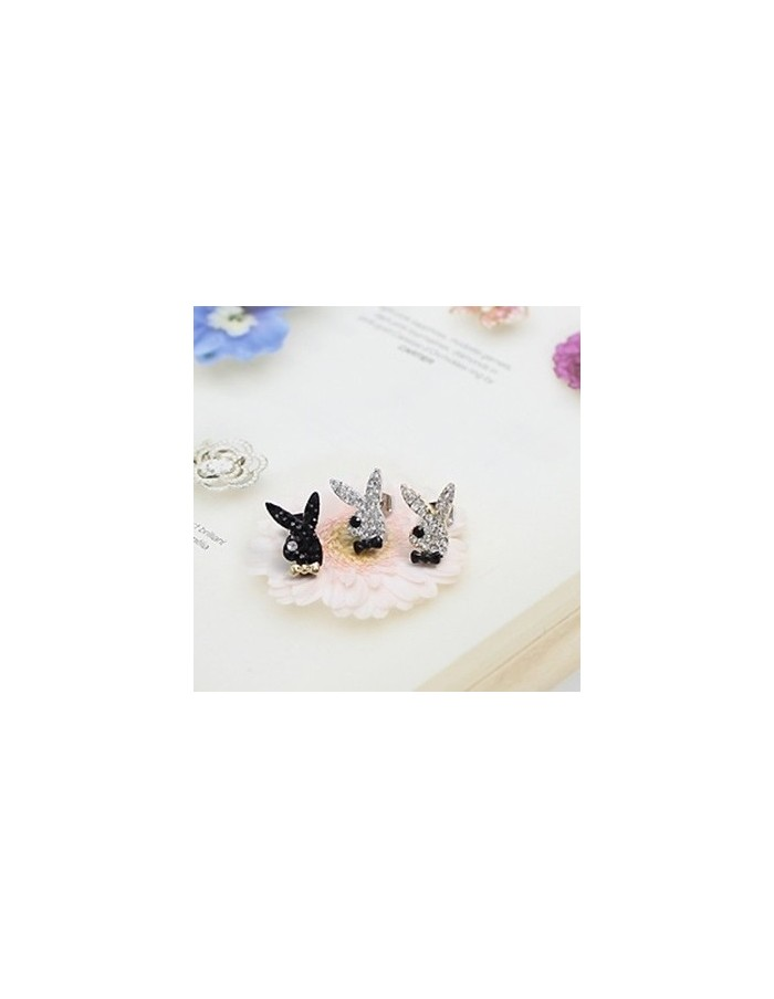 [BB19] GD TOP High High Playboy Rabbit Earrings