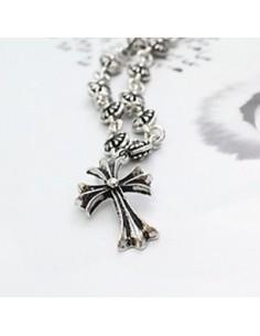 [BB40] Bigbang Jiywong Style Smoky Cross Necklace