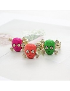 [BB68] Bigbang GD style Colorful Smile Skull Ring
