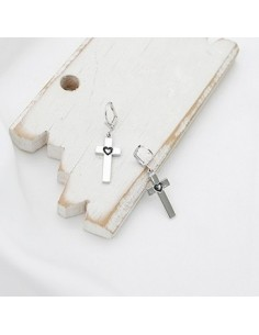 [BB105] GD G-Dragon Style Heart Cross Earring