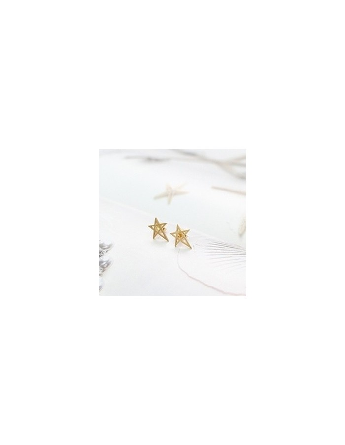 [CN15] CNBLUE Jung yong hwa Style Unique Sharp Star Earring