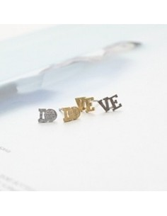 [CN17] CNBLUE Jung yong hwa Style LOVE Initial Earrings
