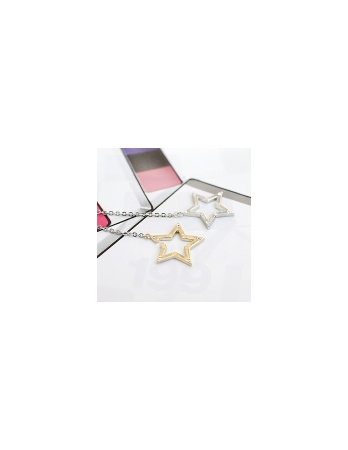 [SH19] SHINEE Style Double Cubic Star Necklace