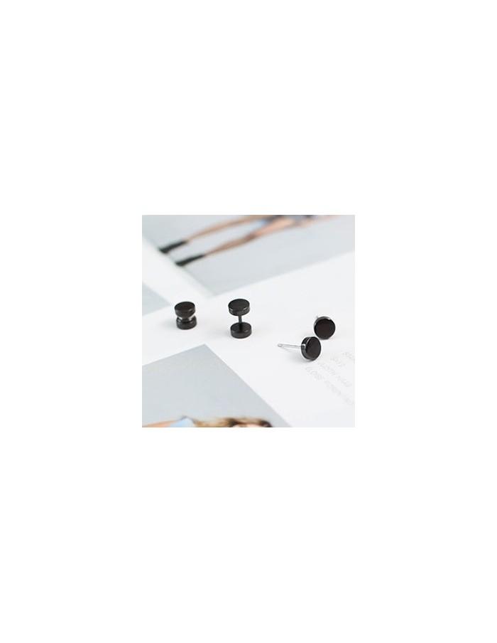 [SH34] Shinee Jonghyun Style Black Mini Round Earring / Piercing