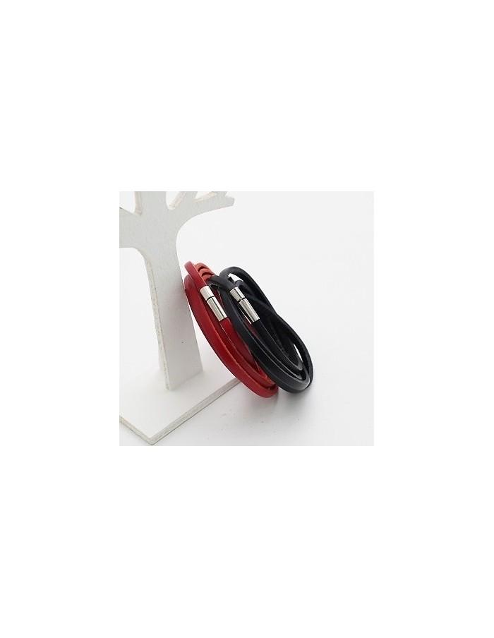 [SH61] SHINEE JONG HYUN Style Leather Slim Bracelet