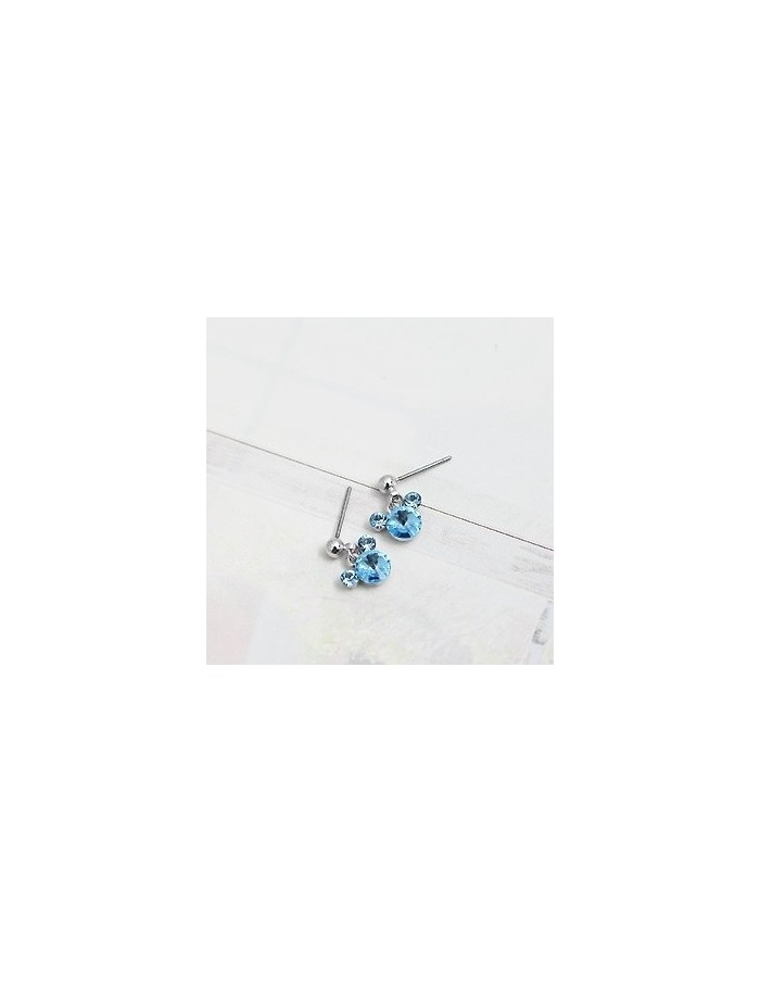 [SN09] Girls Generation Taeyeon Colorful Micky Earrings