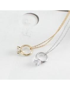 [SN15] Girls Generation SNSD Taeyeon Cubic Ring Necklace