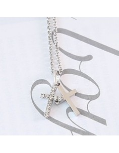[SJ24] Superjunior Eunhyuk Style Double Cross Necklace