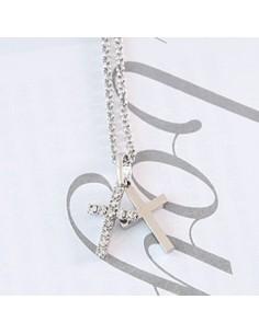 [SJ24] Superjunior Eunhyuk Style Double Cross Necklace