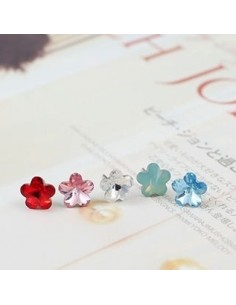 [TT04] Teentop Teen Top Style Crystal Flower Earring