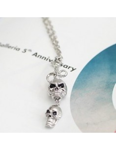 [TV20] TVXQ JYJ Hero Jejung Style Double Skull Cubic Necklace