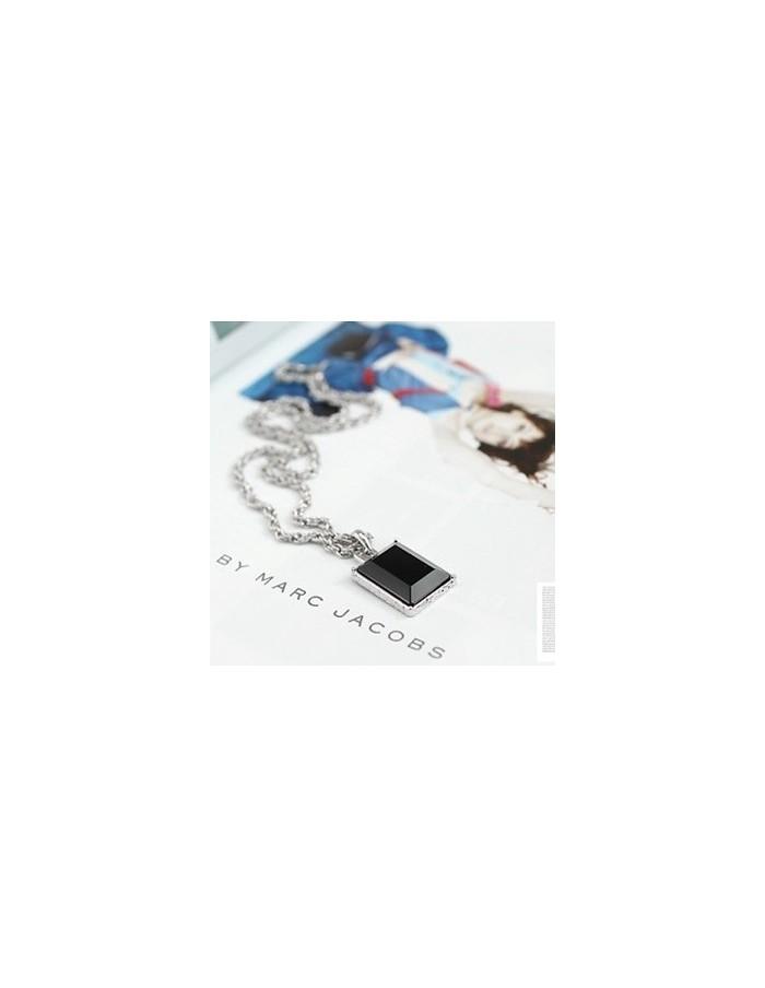 [TV28] JYJ Jejung Junsu Style Modern Black Necklace