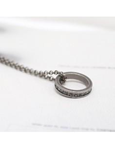 [TV35] TVXQ JYJ Micky Yuchun Style Ring Round Necklace