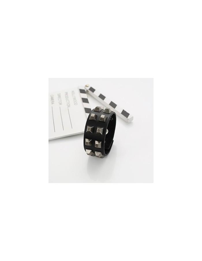 [VX12] VIXX Black Leather Stud Bracelet
