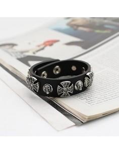 [VX29] VIXX Skull & Cross Bracelet
