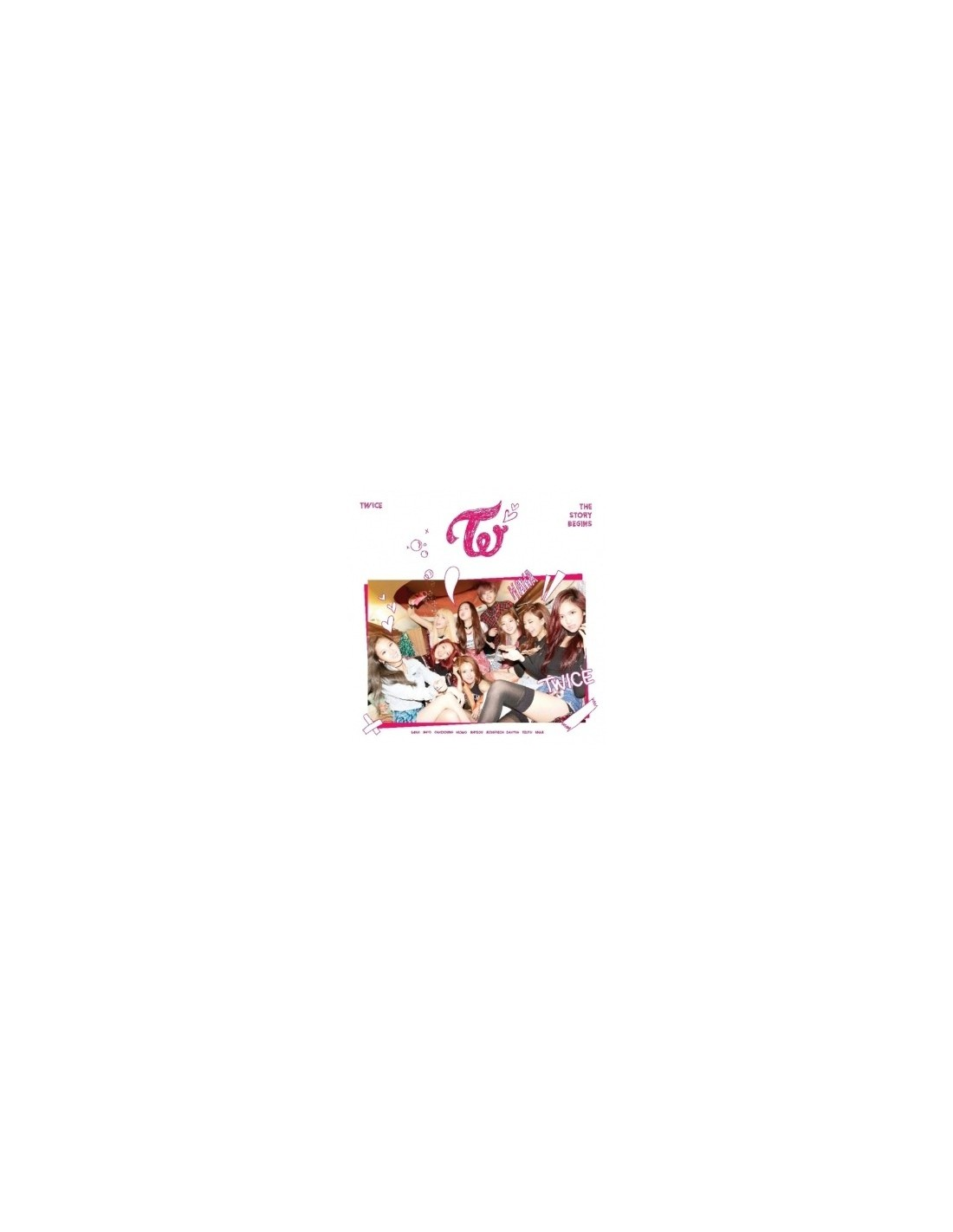 TWICE The 1st mini album - THE STORY BEGINS CD + Poster