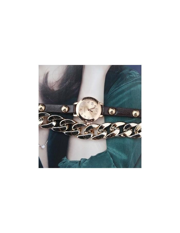 [IH25] Gold Chain Watch