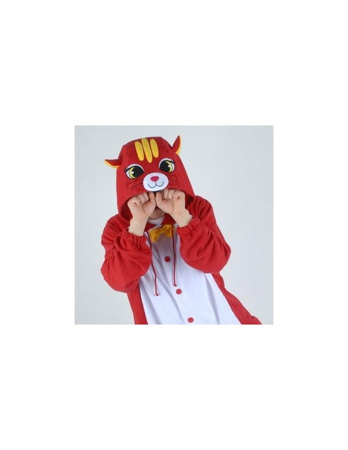 [PJB194] Animal Pajamas - Red Cat