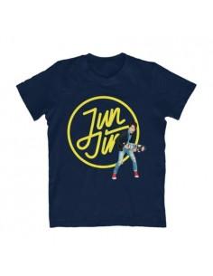 "JUN JIN 2015 ASIA TOUR ""REAL"" In Seoul Official Goods : Logo Skateboard Navy T-shirt"