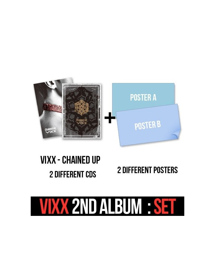 VIXX Vol.2 - CHAINED UP  : Control + FREEDOM Version 2CDs + 2 Different Posters