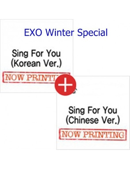 [SET] EXO Winter Special Album - SING FOR YOU (Korean ver + Chinese Ver )