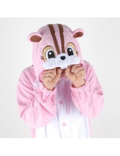 [PJB214] Animal Pajamas - Pink Squirrel