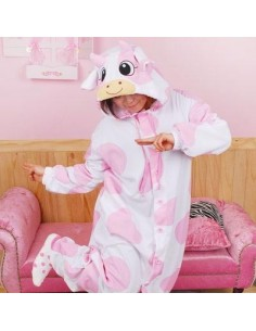 [PJB215] Animal Pajamas - Milk Cow Pink