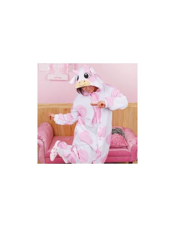 [PJB215] Animal Pajamas - Milk Cow Pink