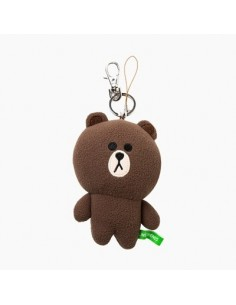 [LINE FRIENDS Goods] Brown Body Key Ring (12cm)