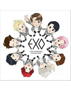 Colouring Book : EXO : A DAY IN EXOPLANET + 3 Coloring Card (Randomly)