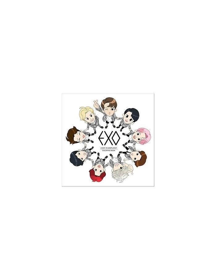 Colouring Book : EXO : A DAY IN EXOPLANET + 3 Coloring Card (Randomly)