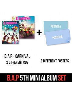 [Normal Version] + [Special Version]  B.A.P 5th Mini Album - CARNIVAL 2CD + 2Posters