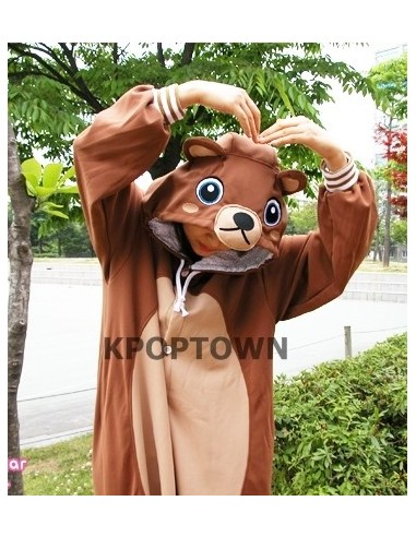 SHINEE Animal Pajamas - brownbear