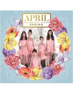 APRIL 2nd Mini Album - SPRING CD+ Poster