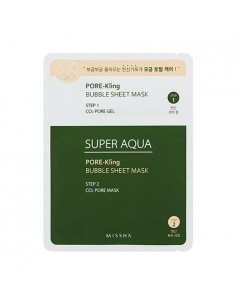 [MISSHA] SUPER AQUA Pore-Kling Bubble Sheet Mask