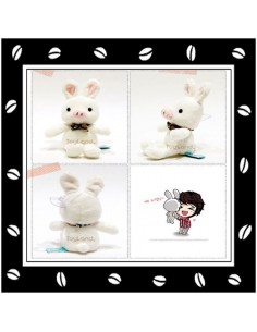 You're Beautiful A.N.Jell Pig Rabbit Doll 19 cm (7 inch)