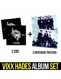 [SET] VIXX 6th Single Album - HADES 2CDs + 2 Different Posters
