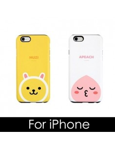 [ KAKAO FRIENDS ] KAKAO Silicon Double Bumper Case - For iPhone