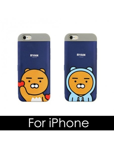 [ KAKAO FRIENDS ] KAKAO Cutie Card Double Bumper Case - For iPhone