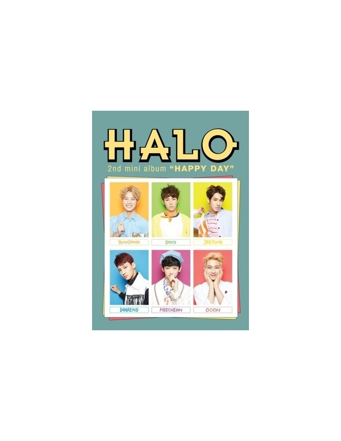 HALO 2nd mini album - HAPPY DAY CD  + Poster