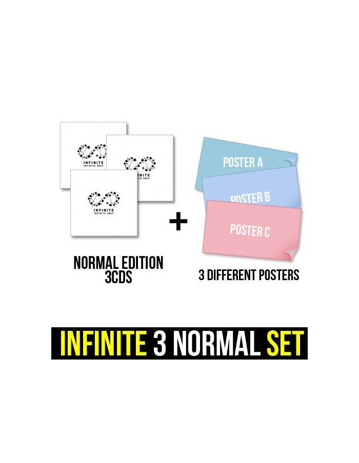 [NORMAL EDITION 3CDS SET] Infinite 6th Mini Album - INFINITE ONLY 3CDs + 3 POSTERS