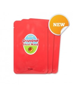 [A'PIEU] Grapefruit & Sparkling Sheet Mask 3EA