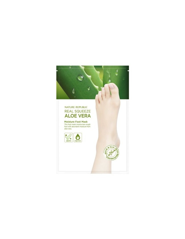 [Nature Republic] Real Squeeze Aloe Vera Peeling Foot Mask