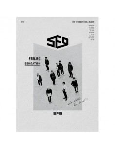 SF9 1st Single Album - FEELING SENSATION CD + Poster
