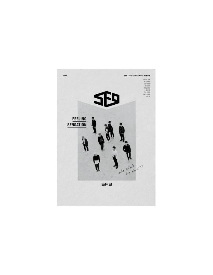 SF9 1st Single Album - FEELING SENSATION CD + Poster